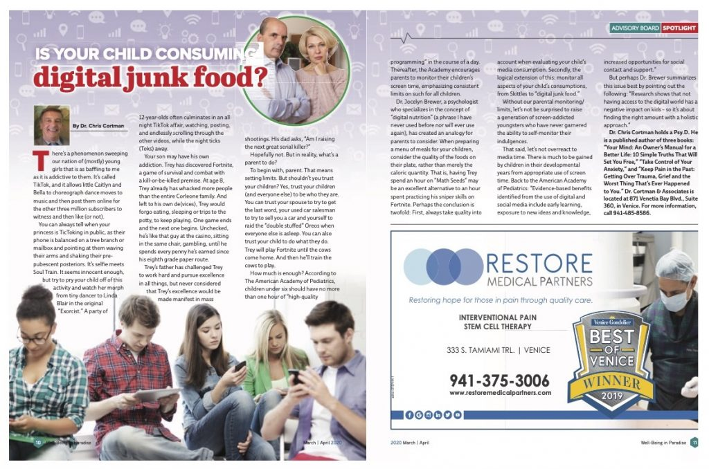 Is Your Child Consuming Digital Junk Food? | Dr. Christopher Cortman