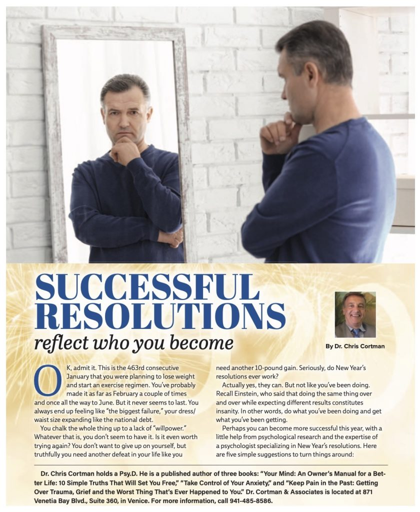 Successful Resolutions Reflect Who You Become | Dr. Christopher Cortman